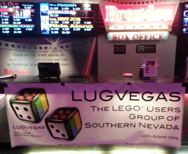 LUGVegas banner at the Brenden Palms box office