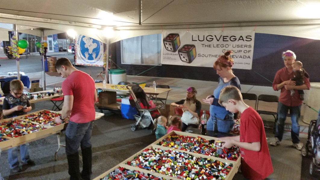 LUGVegas booth First Friday February 6, 2015