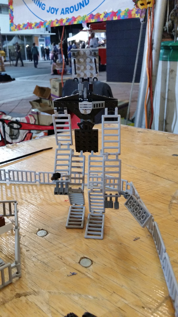 Robot buildt by a visitor First Friday February 6, 2015
