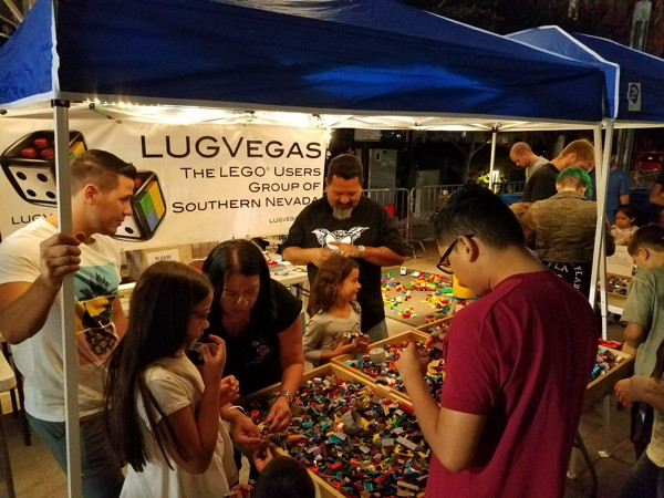 LUGVegas booth First Friday October 6, 2017