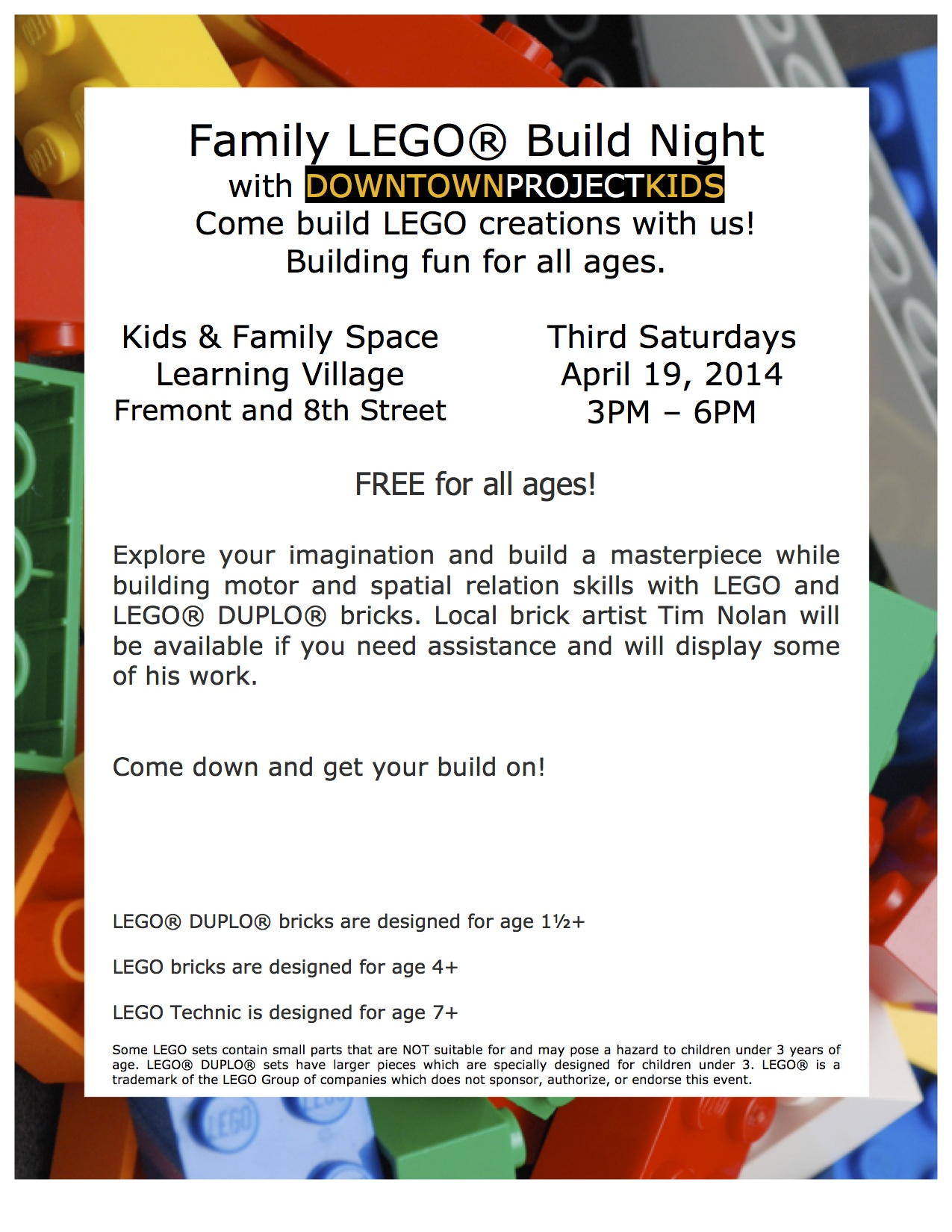 Family LEGO速 Build Night 4/19/14