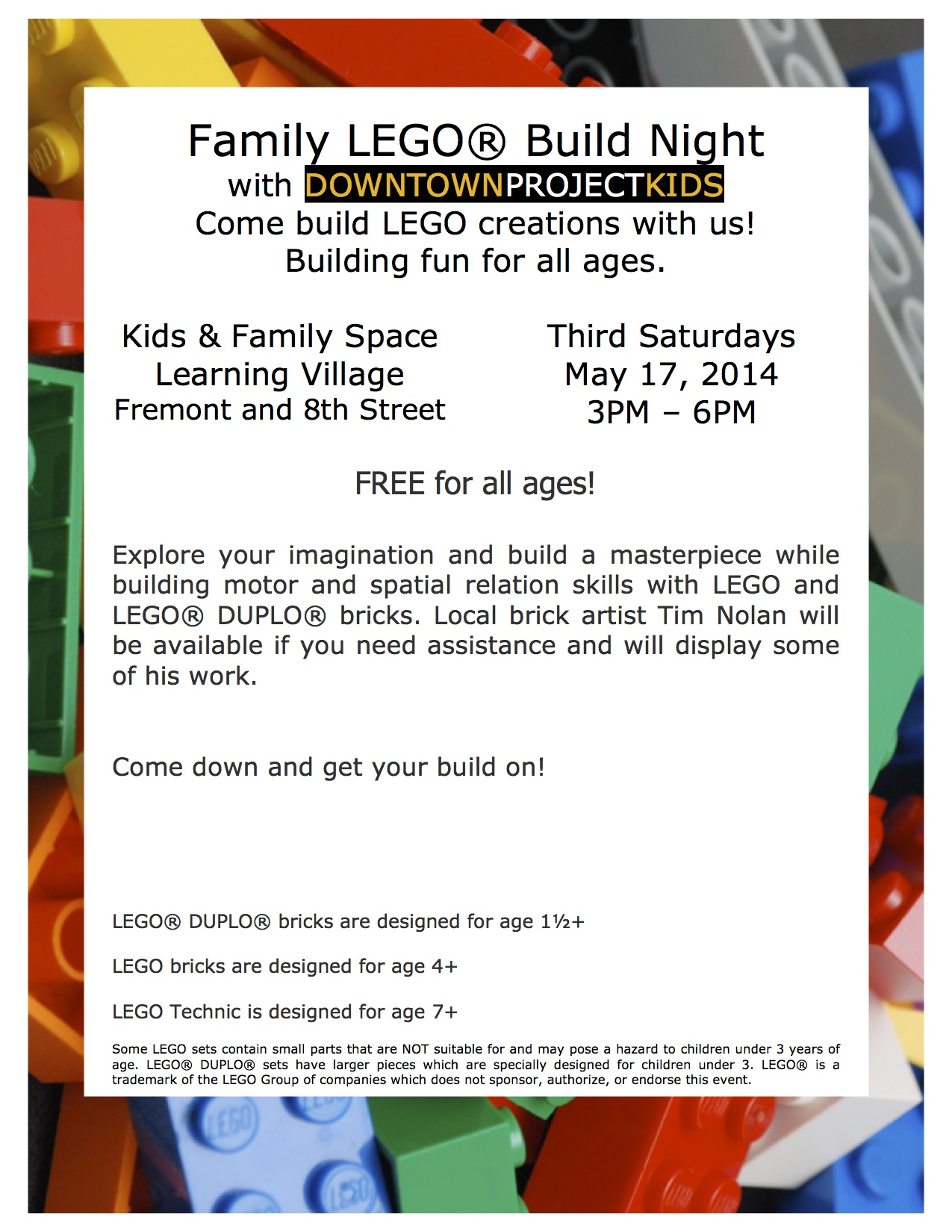 Family LEGO速 Build Night 5/17/14