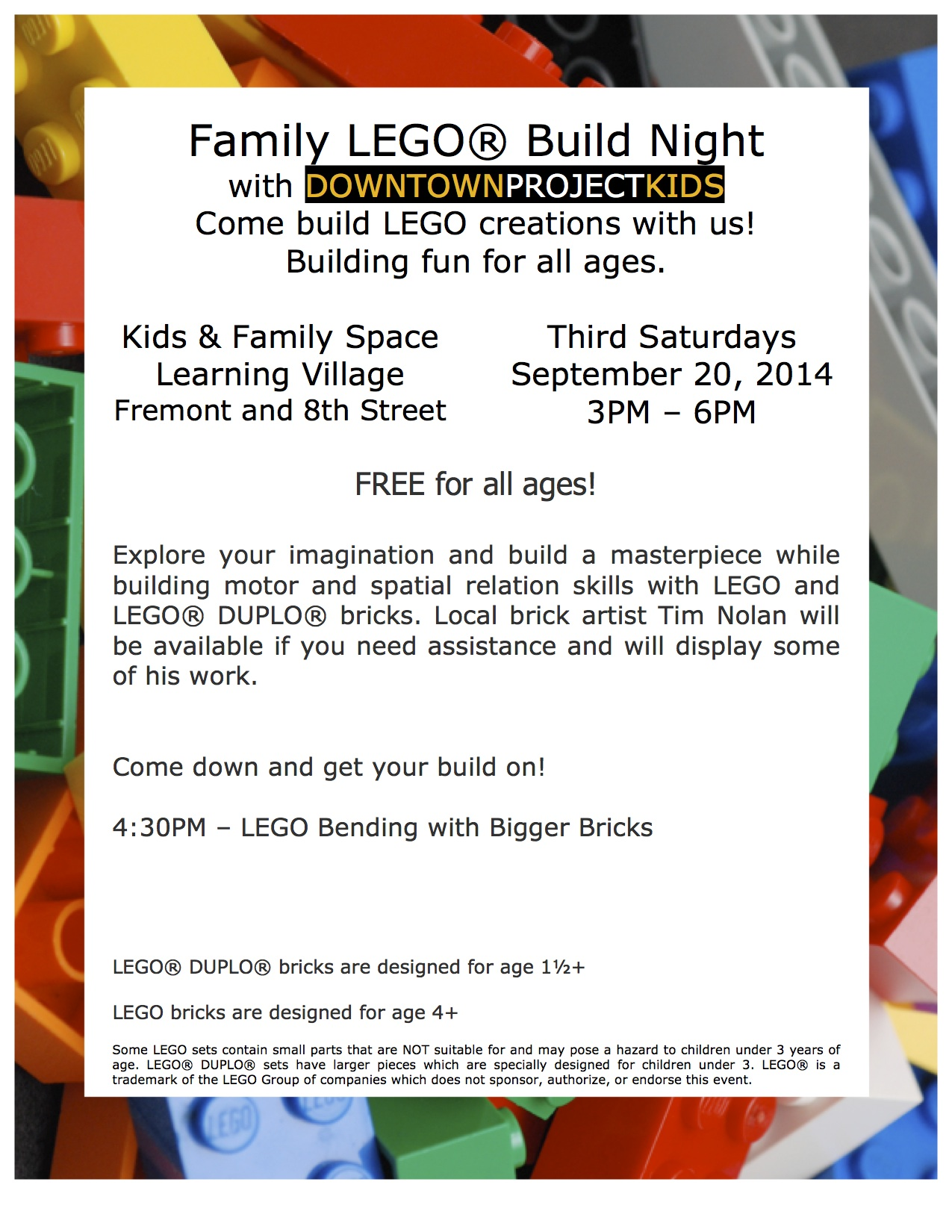 Family LEGO速 Build Night 9/20/14