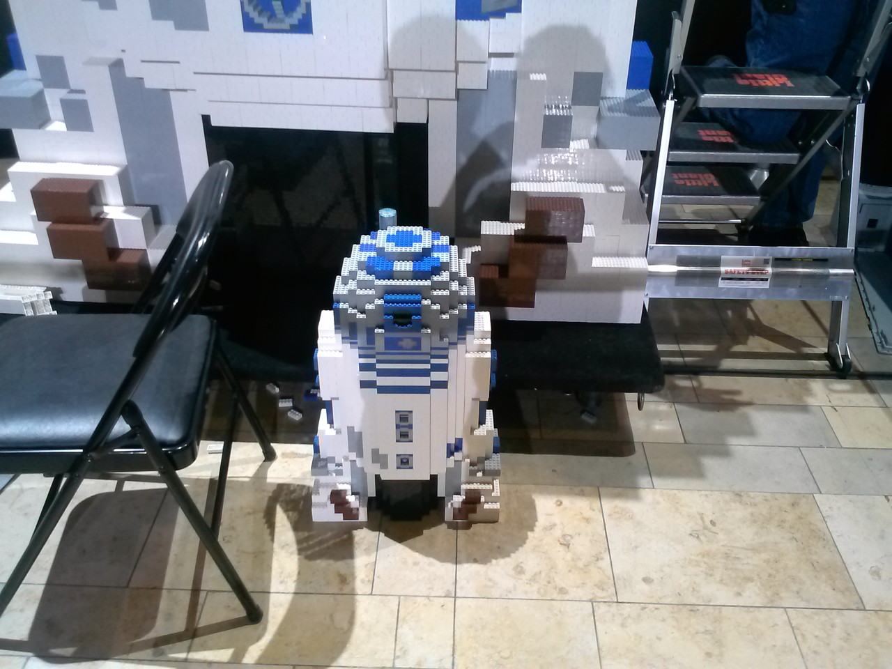 R2-D2 Model and 8' R2-D2 Under Construction April 27, 2014