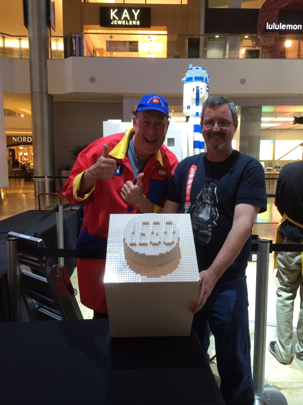 LEGO Master Model Builder Dan S. with LUGVegas Founder Timothy N.