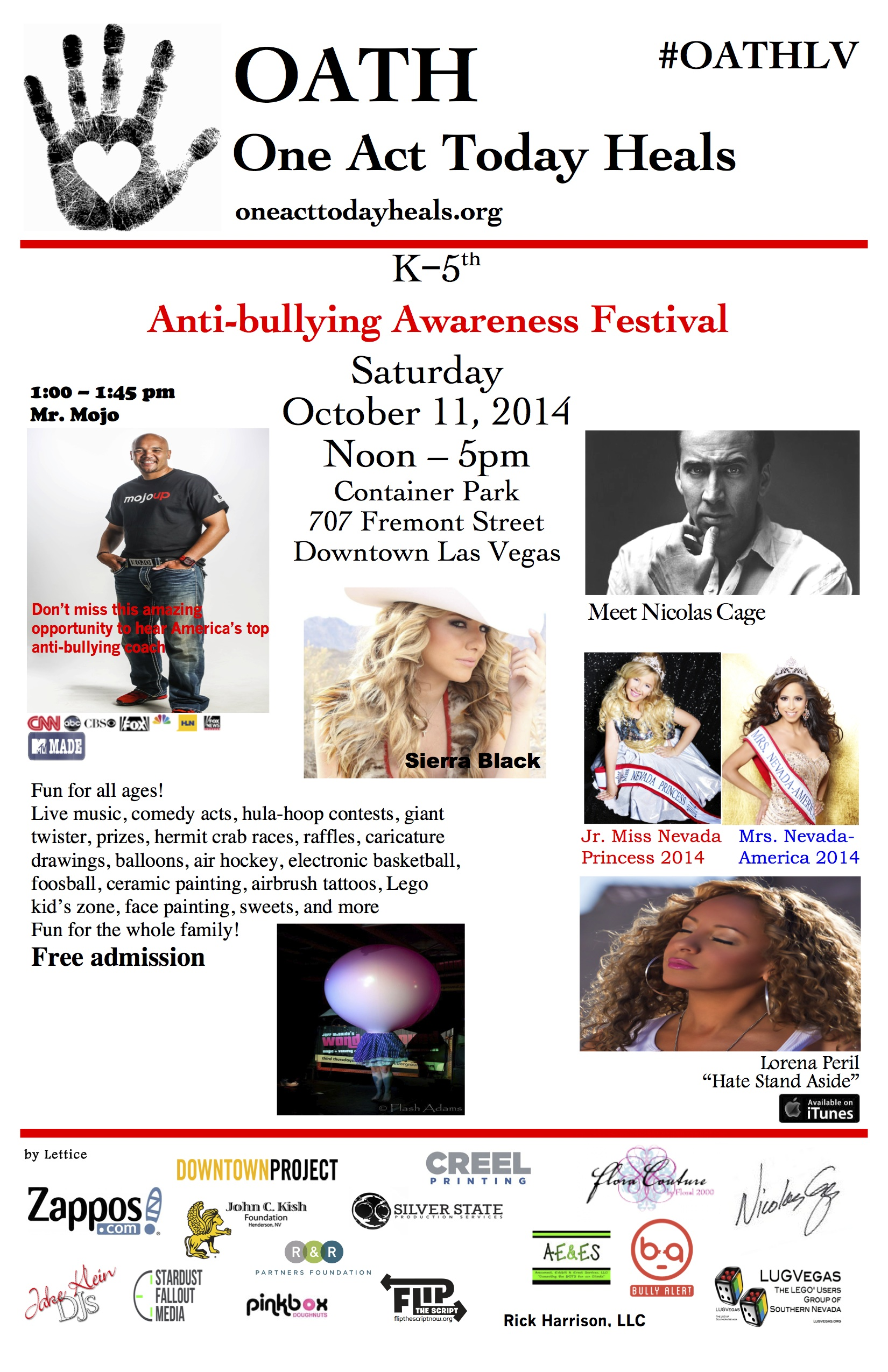 OATH Anti-bullying Awareness Festival 10/11/14
